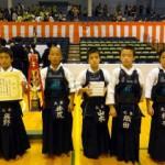 低学年の部 準優勝 京都太秦少年剣道部