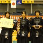 中学生女子の部 第三位 京都太秦少年剣道部