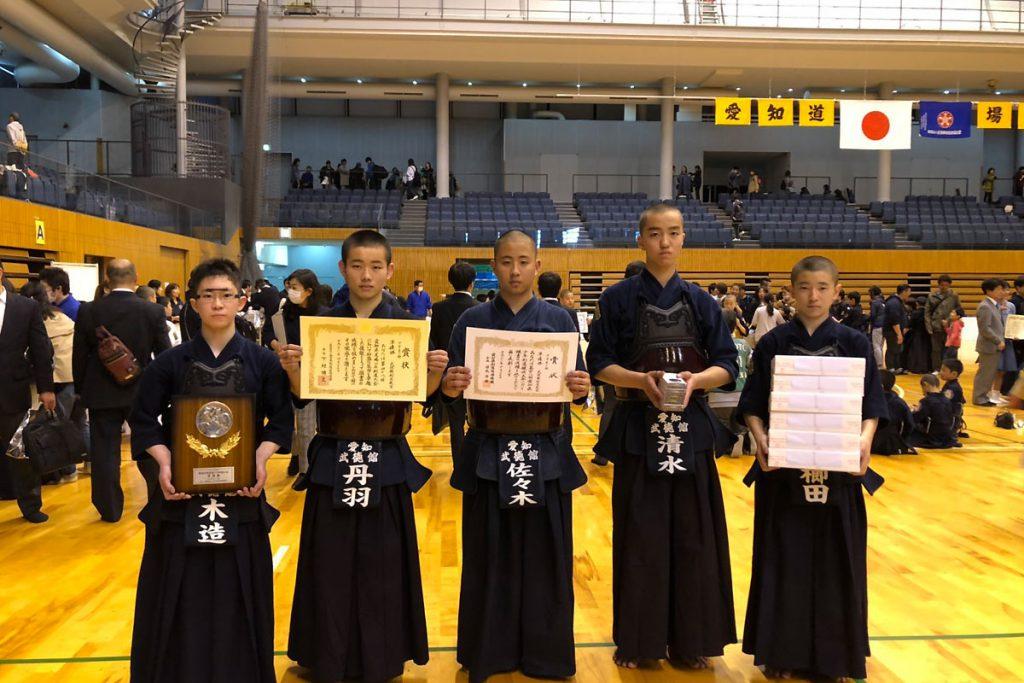 第48回愛知県道場少年剣道大会 中学生の部 準優勝 武徳館剣道教室