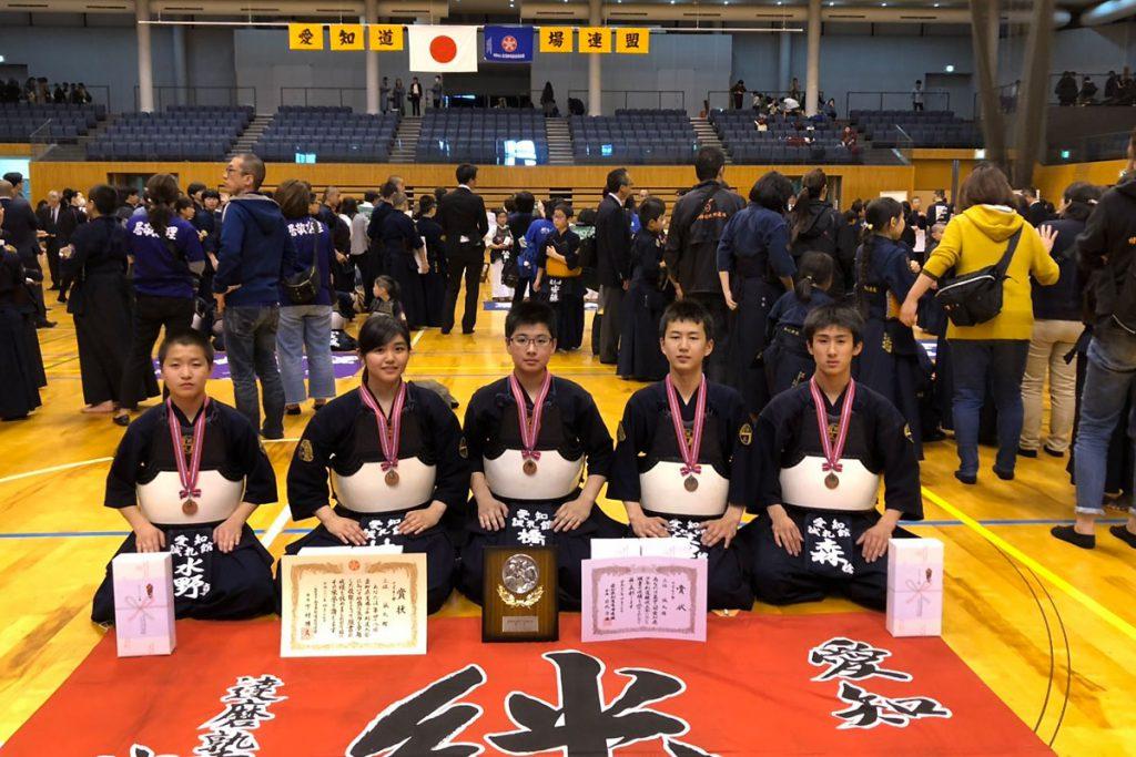 第48回愛知県道場少年剣道大会 中学生の部 第三位 誠礼館